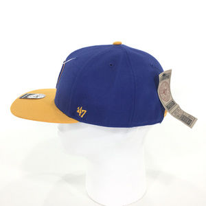 6180f500893  47 Brand Accessories - Milwaukee Brewers Snapback Hat.
